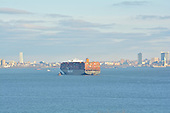 Hapag Lloyd's Containership MV 'Antwerpen Express' and the Statue of Liberty