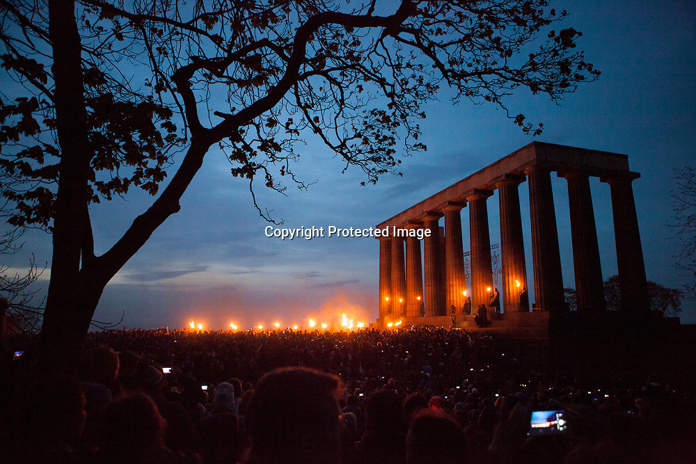 Edinburgh, Scotland, UK. 30th April 2017. Beltane Fire Festival plays host to a cavalcade of colourful characters and a narrative guides the night at Calton Hill, Edinburgh . Pako Mera/Barcroft Media