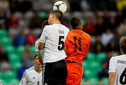Niklas Suele of Germany vs Jeroen Lumu of Netherlands during the UEFA European Under-17 Championship Final match between Germany and Netherlands on May 16, 2012 in SRC Stozice, Ljubljana, Slovenia. (Photo by Vid Ponikvar / Sportida.com)