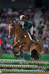 Sarah Ennis, (IRL), Horseware Stellor Rebound - Jumping Eventing - Alltech FEI World Equestrian Games™ 2014 - Normandy, France.<br /> © Hippo Foto Team - Leanjo De Koster<br /> 31-08-14