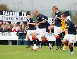 Falkirk's Farid El Alagui..Annan Athletic 0 v 3 Falkirk. Semi Final of the Ramsdens Cup, 9/10/2011..Pic © Michael Schofield.