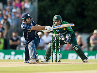 EDINBURGH, SCOTLAND - JUNE 12: A close call for Scotland captain, Kyle Coetzer, in the first of 2 Twenty20 Internationals at the Grange Cricket Club on June 12, 2018 in Edinburgh, Scotland. (Photo by MB Media/Getty Images)