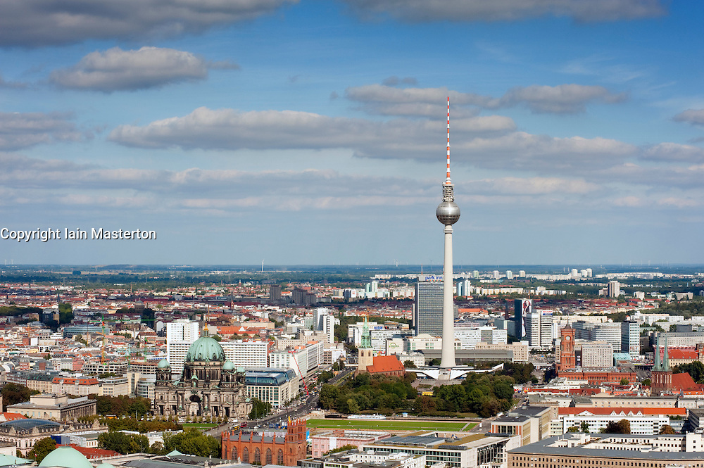 Cityscape of Mitte in Berlin with Television Tower at Alexanderplatz