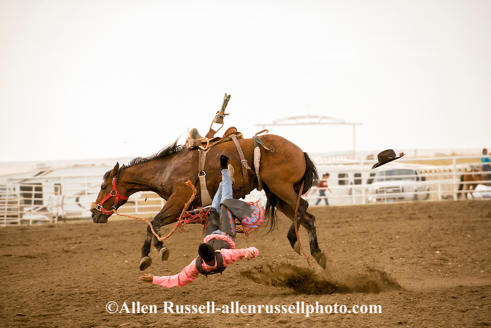Rocky Boy Rodeo-Saddle Bronc Riding-Rocky Boy Indian Reservation-Montana-hats-boots-Indian Cowboys