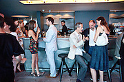 DEREK BLASBERG; DASHA ZHUKOVA; GEOFF DYER; REBECCA WILSON, Dinner hosted by Julia Peyton-Jones and Hans Obrist for the Council of the Serpentine to celebrate: Jeff Koons, Popeye Series. Paramount Club, Paramount Centre Point. London. 30 June 2009
