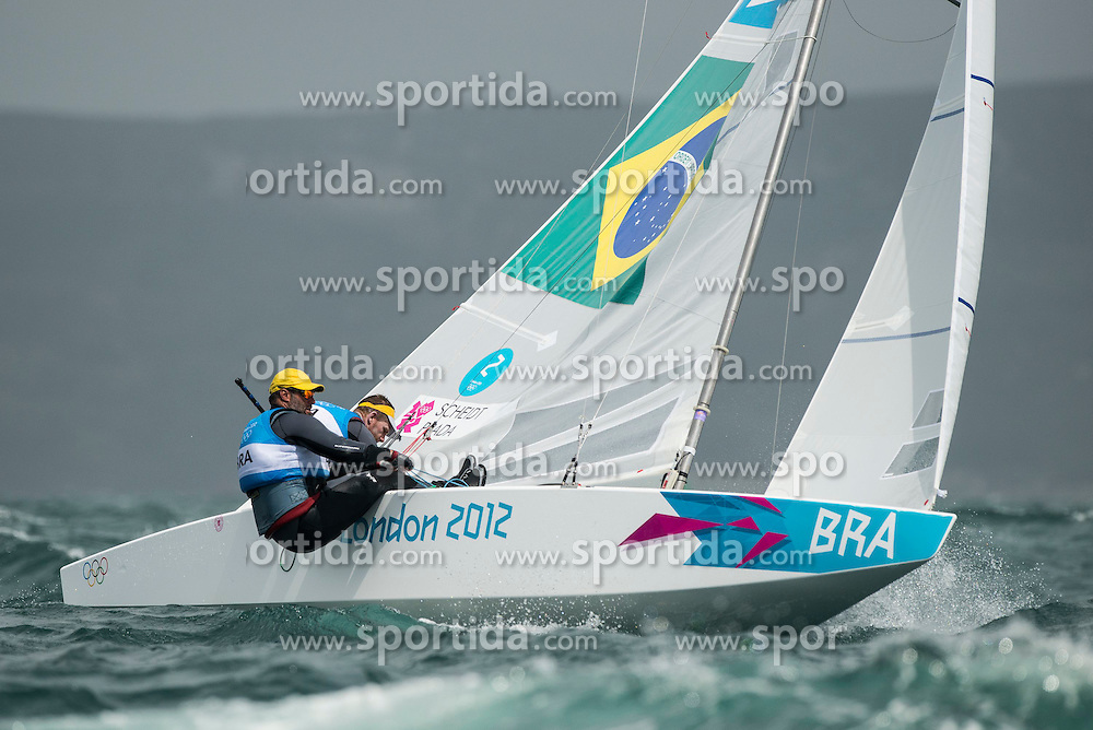 02.08.2012, Bucht von Weymouth, GBR, Olympia 2012, Segeln, im Bild .Percy Iain, Simpson Andrew, (GBR, Star) // during Sailing, at the 2012 Summer Olympics at Bay of Weymouth, United Kingdom on 2012/08/02. EXPA Pictures © 2012, PhotoCredit: EXPA/ Juerg Kaufmann ***** ATTENTION for AUT, CRO, GER, FIN, NOR, NED, POL, SLO and SWE ONLY!