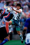FIFA World Cup - USA 1994<br /> 26.6.1994, Soldier Field Stadium, Chicago, Illinois.<br /> Group D, Bulgaria v Greece.<br /> Daniel Borimirov - Bulgaria
