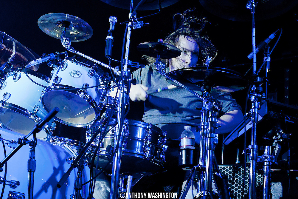 Abe Cunningham, drummer of the Deftones, performs at Rams Head Live on Friday, October 26, 2012  in Baltimore, MD.