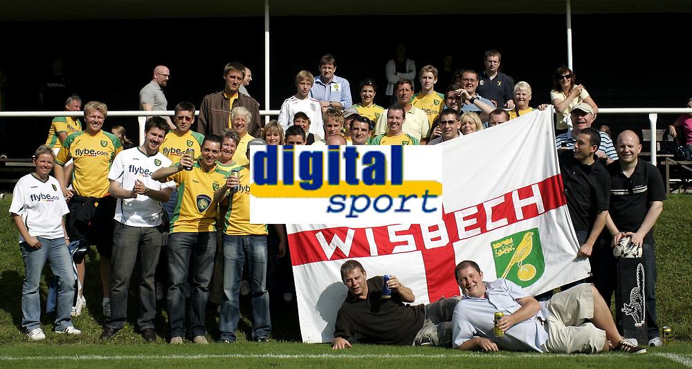 Fotball<br /> Treingskamp Friendly<br /> 19.07.08<br /> Sjövalla Stadion<br /> Ahlafors IF - Norwich City<br /> Travelling supporters<br /> Foto - Kasper Wikestad
