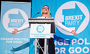 Brexit Party event<br /> Nigel Farage and Ann Widdecombe in Peterborough for a rally with the Brexit Party&rsquo;s Eastern region European election candidates. <br /> at King's Gate Conference Centre, Peterborough, Great Britain <br /> 7th May 2019 <br /> <br /> <br /> June Mummery<br /> <br /> <br /> <br /> Photograph by Elliott Franks