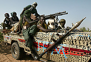 (FILE) A file picture of rebels from the Justice and Equality Movement (JEM) returning from patrol to an undisclosed base in North Darfur Sunday 24 October 2004.<br /> <br /> African Union officials on Monday 08 November 2004 had consultations with rebels from JEM and SLA (Sudan Liberation Army) as well as Sudanese government representatives.<br /> <br /> EPA PHOTO/NIC BOTHMA