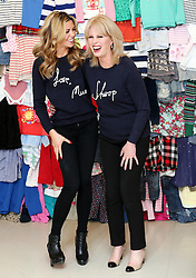 Abbey Clancy and Joanna Lumley at the launch in London of the 'Love, Mum' campaign by Marks & Spencer and Oxfam to raise money for mothers living in poverty,  Tuesday, 4th February 2014. Picture by Stephen Lock / i-Images