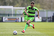 Forest Green Rovers Christian Doidge(9) runs forward during the EFL Sky Bet League 2 match between Forest Green Rovers and Macclesfield Town at the New Lawn, Forest Green, United Kingdom on 13 April 2019.