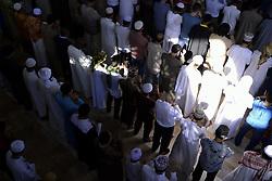 June 15, 2018 - Bangkok, Bangkok, Thailand - Muslim during Eid al-Fitr prayers to mark the end of the holy fasting month of Ramadan at a mosque in Bangkok, Thailand June 15, 2018. (Credit Image: © Anusak Laowilas/NurPhoto via ZUMA Press)