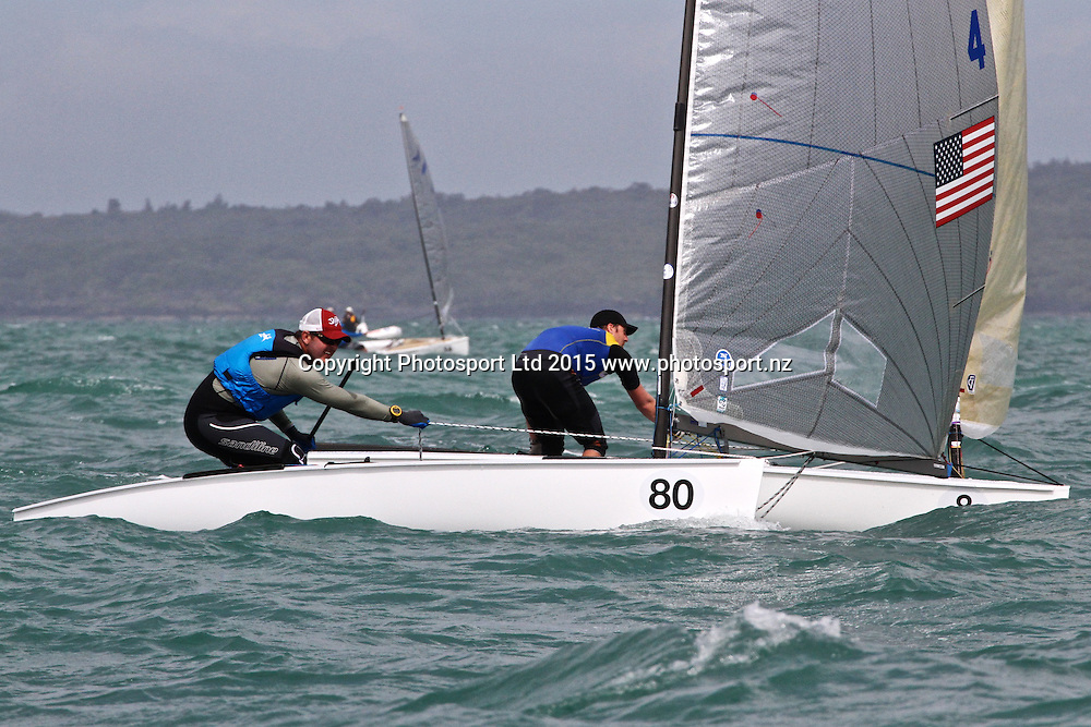 Race 8 Finn Gold Cup Takapuna - Zach Railey (USA)