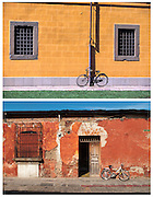 Bicycles, Lucca, Italy and Antigua, Guatemala.