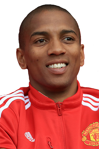 Ashley Young of Manchester United sits on the bench during the Barclays Premier League match between Manchester United and AFC Bournemouth