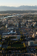 Aerials of Richmond, BC at sunset