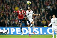 Adama Traore / Gelson Fernandes - 15.03.2015 - Lille / Rennes - 29e journee Ligue 1<br /> Photo : Andre Ferreira / Icon Sport