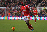 Michail Antonio during the Sky Bet Championship match between Nottingham Forest and Millwall at the City Ground, Nottingham, England on 31 January 2015. Photo by Jodie Minter.