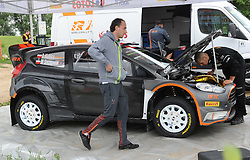 30.06.2015, Pasym, POL, FIA, WRC, Ralley Polen, Training, im Bild ROBERT KUBICA I PILOT MACIEJ SZCZEPANIAK TESTUJA FORDA FIESTE WRC NA WARMINSKICH SZUTRACH NA ZDJECIU ROBERT KUBICA FORD FIESTA RS WRC SERWIS SERVIS // during a trainingssession of FIA, WRC Poland Ralley at Pasym, Poland on 2015/06/30. EXPA Pictures © 2015, PhotoCredit: EXPA/ Newspix/ Bogdan Hrywniak<br /> <br /> *****ATTENTION - for AUT, SLO, CRO, SRB, BIH, MAZ, TUR, SUI, SWE only*****