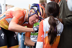 Ellen van Dijk (Boels Dolmans) on autograph duties at the 119 km Stage 6 of the Boels Ladies Tour 2016 on 4th September 2016 from Bunde to Valkenburg, Netherlands. (Photo by Sean Robinson/Velofocus).