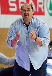 Head coach of Krka Aleksandar Dzikic during basketball match between KK Union Olimpija and KK Krka in 3rd Quarterfinal of Spar Slovenian Cup, on February 11, 2011 in Sportna dvorana Poden, Skofja Loka, Slovenia. (Photo By Vid Ponikvar / Sportida.com)