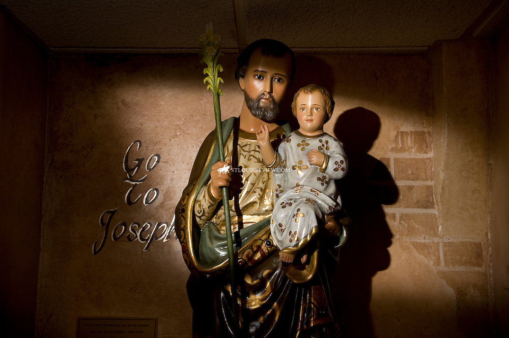 Our Sorrowful Mother's Ministry -- Vandalia, IL  -- Statue of St. Joseph in the chapel at Our Sorrowful Mother's Ministry..   (photo by LISA JOHNSTON/lisajohnston@stlouisreview.com)
