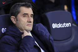 January 7, 2018 - Barcelona, Catalonia, Spain - January 7, 2017 - Camp Nou, Barcelona, Spain - LaLiga Santander- FC Barcelona v Levante UD; Ernesto Valverde of FC Barcelona before start the match. (Credit Image: © Eric Alonso via ZUMA Wire)
