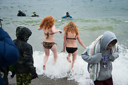 2013 New Year's Day Polar Bear Plunge into Flathead Lake at The Raven