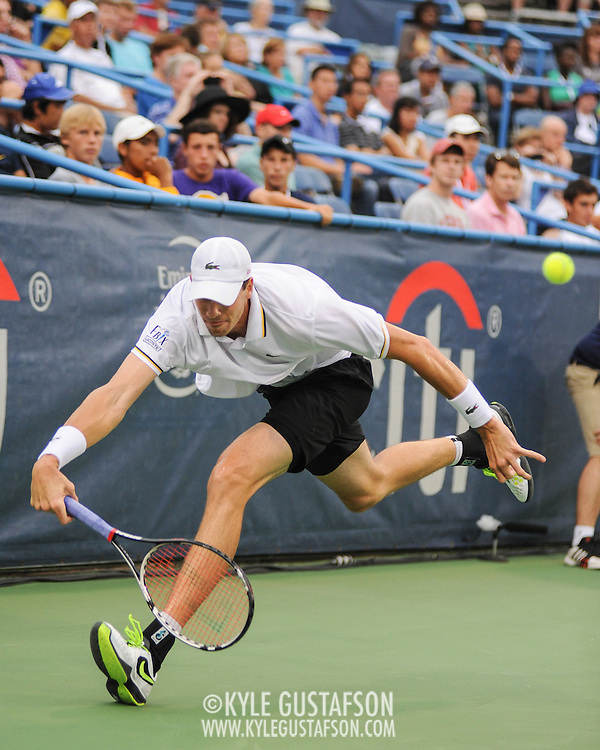Washington DC - August 3rd, 2013 - John Isner at the 2013 CitiOpen Tennis Tournament in Washington, D.C.