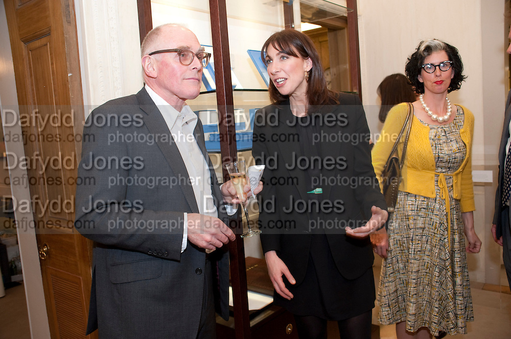 RICHARD WENTWORTH; SAMANTHA CAMERON; LINDSAY TAYLOR, Smythson Royal Wedding exhibition preview. Smythson together with Janice Blackburn has commisioned 5 artist designers to create their own interpretations of  Royal wedding memorabilia. Smythson. New Bond St. London. 5 April 2011.  -DO NOT ARCHIVE-© Copyright Photograph by Dafydd Jones. 248 Clapham Rd. London SW9 0PZ. Tel 0207 820 0771. www.dafjones.com.