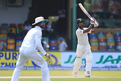 August 4, 2017 - Colombo, Sri Lanka - Indian cricketer Wriddhiman Saha plays a shot during the 2nd Day's play in the 2nd Test match between Sri Lanka and India at the SSC international cricket stadium at the capital city of Colombo, Sri Lanka on Friday 04 August 2017. (Credit Image: © Tharaka Basnayaka/NurPhoto via ZUMA Press)