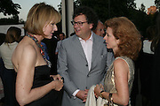 Julia Peyton -Jones, Ivan and Manuela WirtH. The Summer Party in association with Swarovski. Co-Chairs: Zaha Hadid and Dennis Hopper, Serpentine Gallery. London. 11 July 2007. <br />