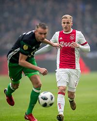 21-01-2018 NED: AFC Ajax - Feyenoord, Amsterdam<br /> Ajax was met 2-0 te sterk voor Feyenoord / Donny van de Beek #6 of AFC Ajax