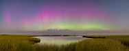 A beautiful display of the Aurora Borealis above Cape Cod Bay was triggered by the strongest solar flare in ten years, in early Sptember, 2017.