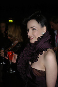 Dita von Teese. The Moet & Chandon Fashion Tribute 2005 to Matthew Williamson,  Old Billingsgate market, London. 16th February 2005. ONE TIME USE ONLY - DO NOT ARCHIVE  © Copyright Photograph by Dafydd Jones 66 Stockwell Park Rd. London SW9 0DA Tel 020 7733 0108 www.dafjones.com