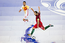 Joselito of Spain and Ricardinho of Portugal during futsal match between Portugal and Spain in Final match of UEFA Futsal EURO 2018, on February 10, 2018 in Arena Stozice, Ljubljana, Slovenia. Photo by Urban Urbanc / Sportida