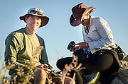 Participants from the National Geographic Expeditions workshop hone thier photography skills at New Mexico's Historic Ghost Ranch.
