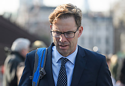 © Licensed to London News Pictures. 29/03/2019. London, UK. TOBIAS ELLWOOD MP is seen arriving at parliament in Westminster, London. MPs will later vote on the withdrawal agreement, which sets out the terms of the UK's departure from the EU. Photo credit: Ben Cawthra/LNP