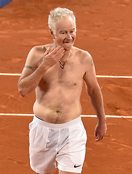 Tennis legend John McEnroe shows off his tattoos after the final of the Senior Master Cup 2017. 30 Sep 2017 Pictured: John McEnroe without seemed his tottoosafter final Senior Master Cup 2017. Photo credit: MEGA TheMegaAgency.com +1 888 505 6342
