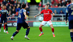 Josh Brownhill of Bristol City tries to control the ball -Mandatory by-line: Nizaam Jones/JMP - 18/01/2020 - FOOTBALL - Ashton Gate - Bristol, England - Bristol City v Barnsley - Sky Bet Championship