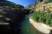 THIS PHOTO IS AVAILABLE FOR WEB DOWNLOAD ONLY. PLEASE CONTACT US FOR A LARGER PHOTO. Idaho, Frank Church Wilderness. Middle Fork of Salmon River. Elk Bar. Rafting.  MR