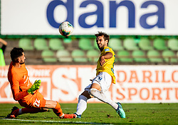Matjaž Rozman of Celje vs Mustafa Nukić of Bravo during football match between NK Bravo and NK Celje in 13th Round of Prva liga Telekom Slovenije 2019/20, on October 5, 2019 in ZAK stadium, Ljubljana, Slovenia. Photo by Vid Ponikvar / Sportida