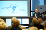 Bogusław Andrzej Ulijasz viceminister of Minstry of Sport speaks during conference Trainers Academy for trainers and coaches at National Stadium in Warsaw on September 30, 2014.<br /> <br /> Poland, Warsaw, September 30, 2014<br /> <br /> Picture also available in RAW (NEF) or TIFF format on special request.<br /> <br /> For editorial use only. Any commercial or promotional use requires permission.<br /> <br /> Mandatory credit:<br /> Photo by &copy; Adam Nurkiewicz / Mediasport