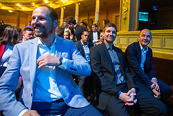 Ante Simundza with Simon Rozman and Senijad Ibricic during SPINS XI Nogometna Gala 2019 event when presented best football players of Prva liga Telekom Slovenije in season 2018/19, on May 19, 2019 in Slovene National Theatre Opera and Ballet Ljubljana, Slovenia. Photo by Grega Valancic / Sportida.com