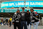 Oakland Raiders fans during the International Series match between Oakland Raiders and Seattle Seahawks at Wembley Stadium, London, England on 14 October 2018.