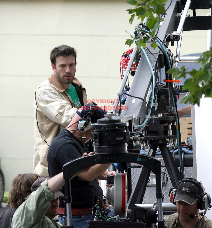 Ben Affleck in and around Boston,MA directing Gone Baby Gone. Photo by Mark Garfinkel