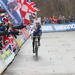 27-01-2017: Wielrennen: Wereldkampioenschap veldrijden: Luxemburg<br /> BIELES (LUX) cyclocross<br /> De Brit Thomas Piddock pakt overtuigend de titel bij de junioren op het WK in Bieles