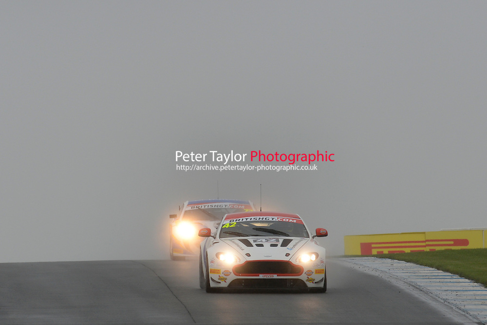 Jack Mitchell (GBR) / Matthew Graham (GBR)  #42 Generation AMR Macmillan Racing  Aston Martin V8 Vantage GT4  Aston Martin 4.7L V8. British GT Championship at Donington Park, Melbourne, Leicestershire, United Kingdom. September 10 2016. World Copyright Peter Taylor/PSP.